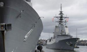 Royal Australian Navy HMAS Sydney Sails for Combat Trials in United States