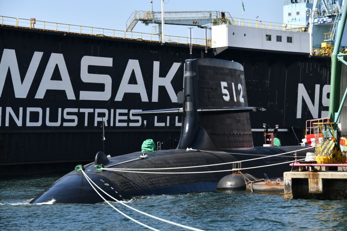 Japan Maritime Self-Defense Force JS Tōryū (SS-512) Sōryū-class submarines.