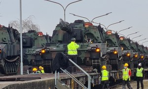US Army Mannheim APS-2 Site Receives M109A7 Paladin Self-propelled Artillery Systems