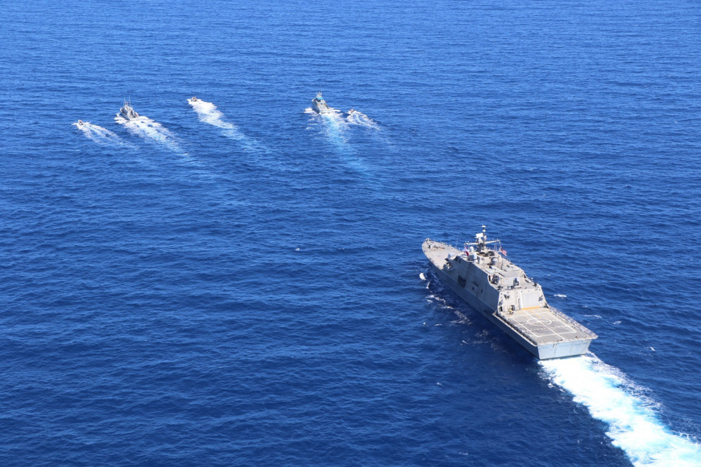 US Navy USS Wichita Conducts Bi-Lateral Exercise with Dominican Republic Navy
