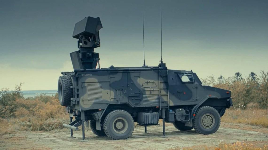 Bystra radar based on AMZ Żubr-P chassis