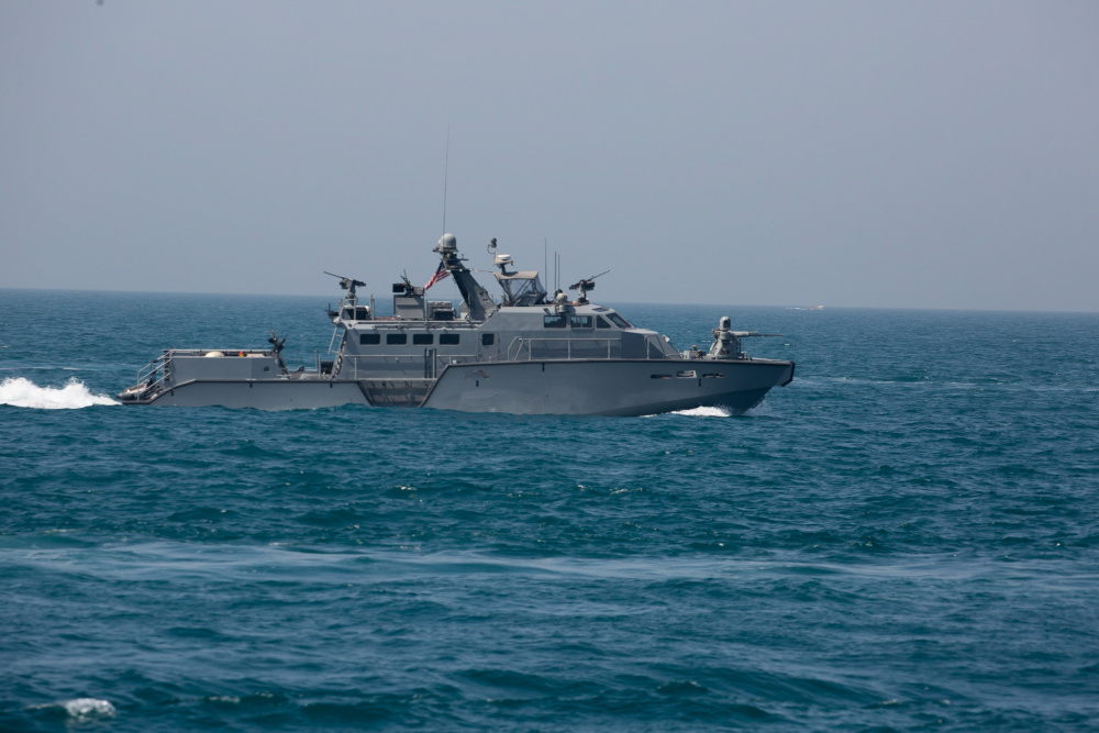 A Mark VI patrol boat attached to Commander, Task Force (CTF) 56