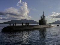 Indonesian Navy Submarine KRI Ardadedali Arrives at Ranai Naval Base, South South China
