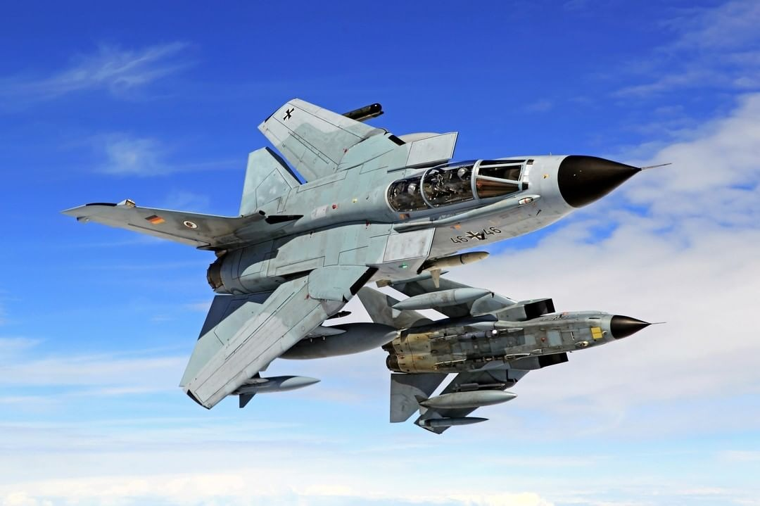 German Air Force Tornado ECR dealing with simulated ground threats.