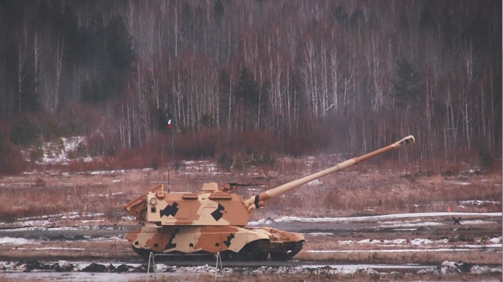 Rostec Demonstrates Coordination of 155mm Msta-S Howitzer with Recon UAV to a Foreign Customer