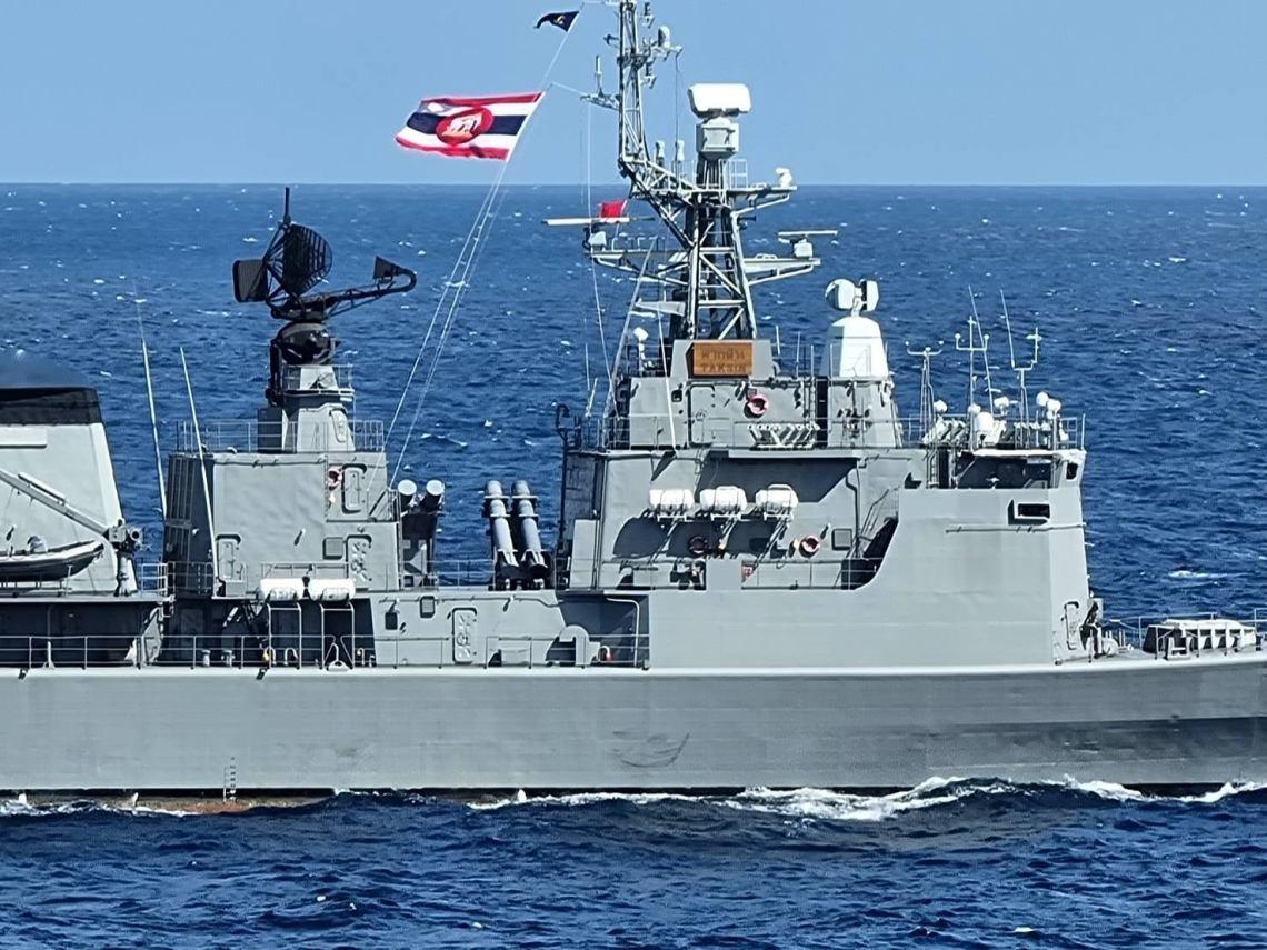 Royal Thai Navy Taksin Type 053 Frigate Succesful Firing Harpoon Block 1C Missile