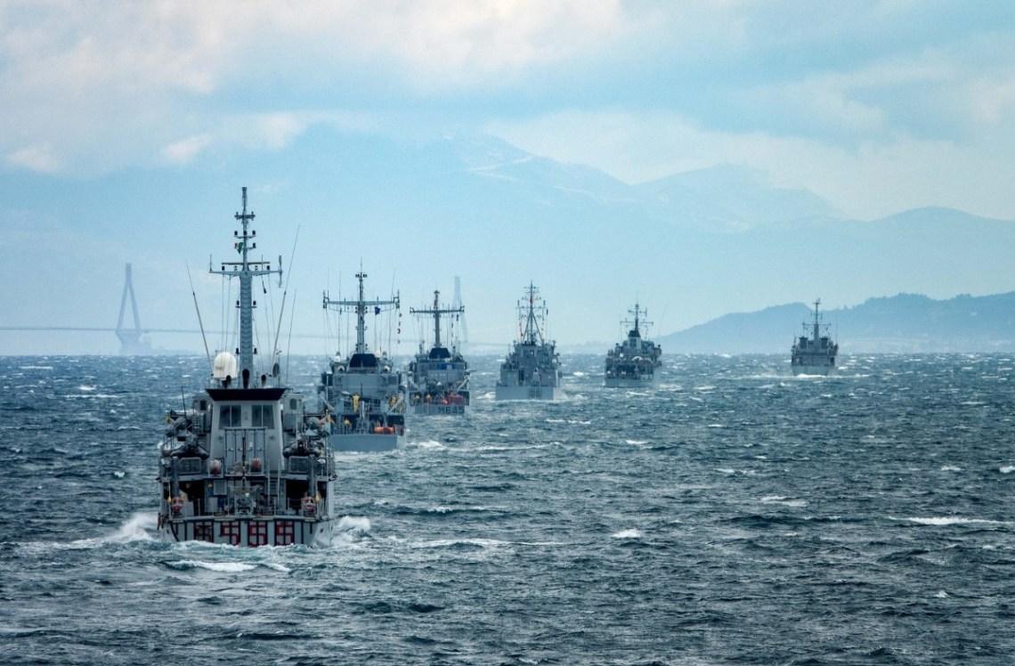 Standing NATO Mine Countermeasures Group 2 Take Part in Exercise Ariadne 2021