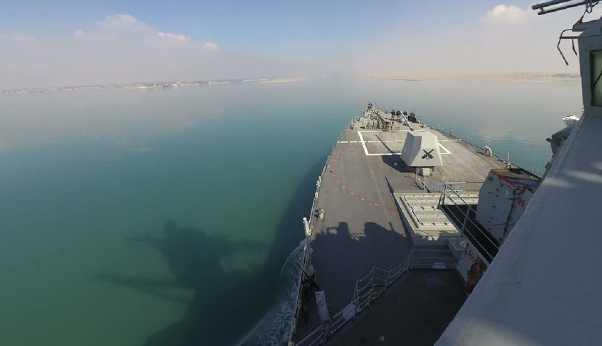 US Navy USS Winston S. Churchill (DDG 81) Transits Suez Canal