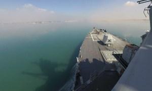 US Navy USS Winston S. Churchill (DDG 81) Transits Suez Canal