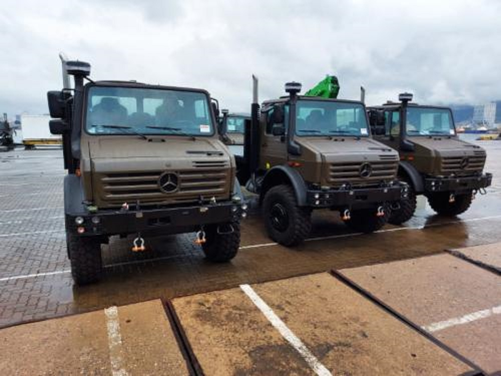 Brazilian Marine Corps Receives First 6 Daimler's UNIMOG U5000 Trucks
