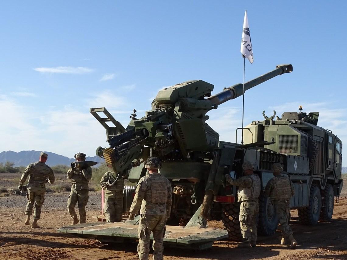 Elbit System's Autonomous Truck Mounted Ordnance System (ATMOS) Iron Sabre mobile howitzer