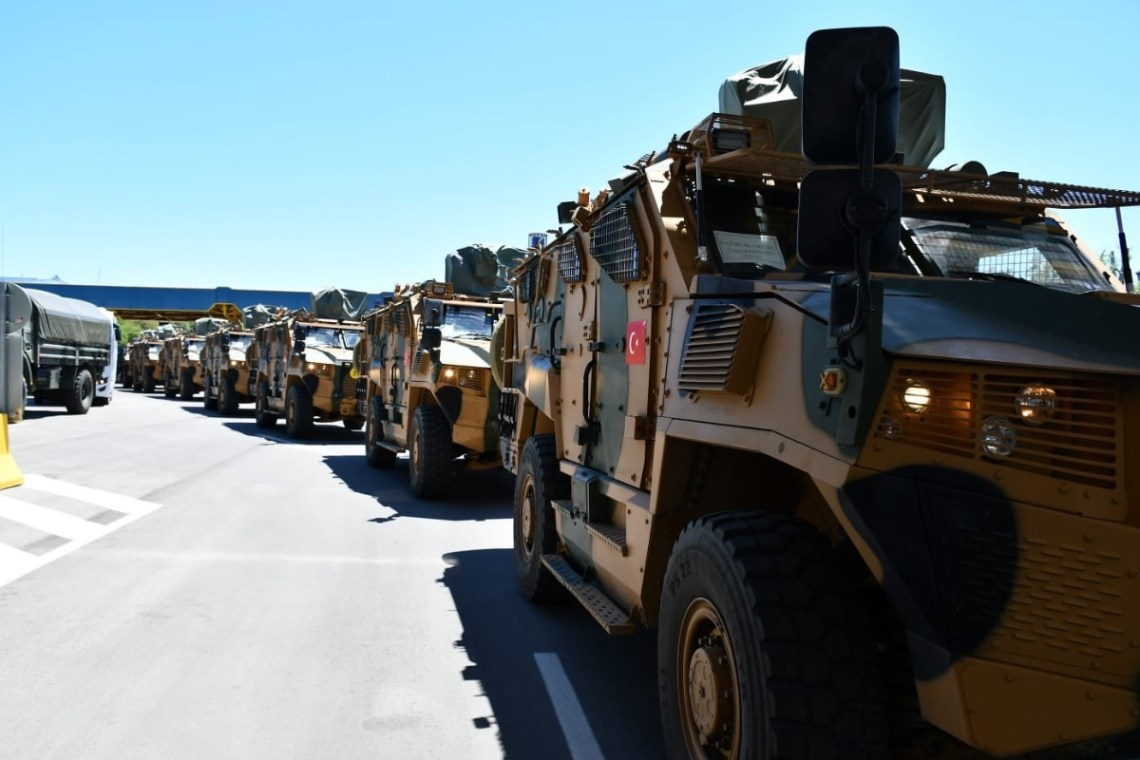 Turkish Land Forces 66th Mechanised Infantry Brigade crossed the Turkish-Bulgarian Hamzabeyli border during their land deployment to Cincu, Romania to take part in Exercise Steadfast Defender 2021 on May 11, 2021.