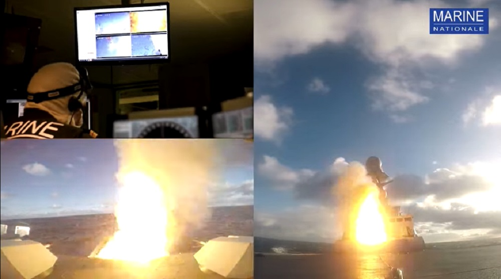French Navy Fires Aster 30 Missile with Forbin Air Defense Frigate During Formidable Shield 2021