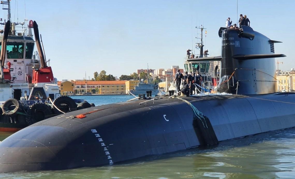 Future Spanish Navy Submarine Isaac Peral S-80 Floated Out at Navantia Shipyard