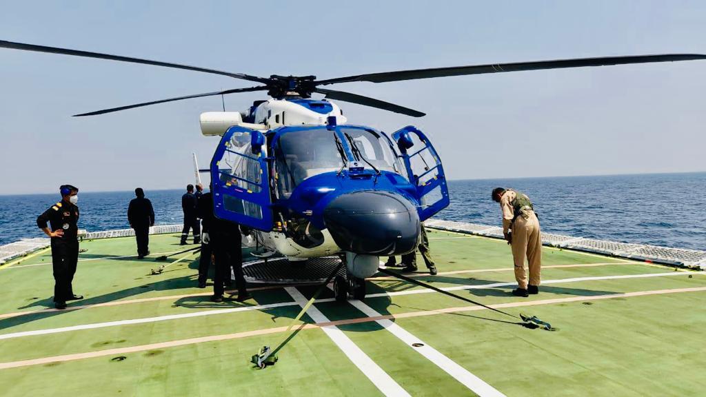 Hindustan Aeronautics Limited's (HAL) Advanced Light Helicopter Dhruv Mk III MR