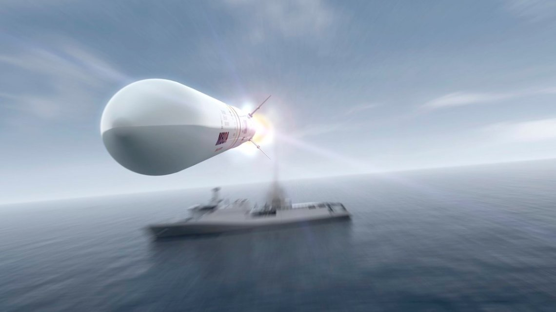 """MBDA Sea Ceptor use soft-launch"""" weapon technology for a highly scaleable and compact launch system that can easily be installed in a number of locations."""