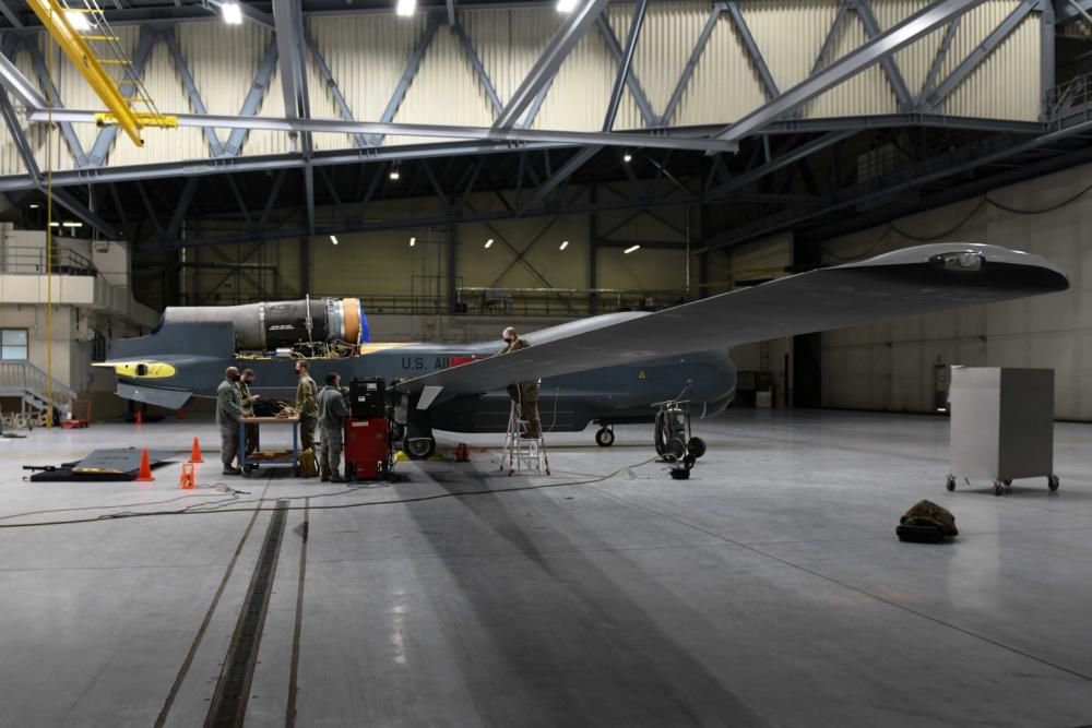 US Air Force Global Hawk RQ-4 Unmanned Aerial Vehicle