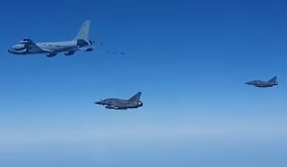 Russian Su-27 Fighter Intercepts French Air Force Aircrafts Over Black Sea