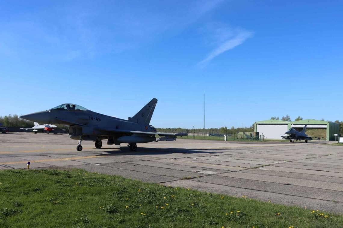 Spanish Air Force Eurofighter Detachment Accomplishes First Alert Scramble in Baltic Air Policing