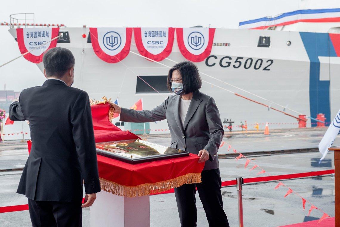 Taiwan Coast Guard Receives Its First 4,000-ton Large Patrol Vessel