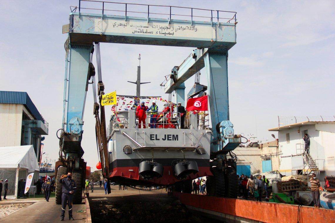 Tunisian Shipbuilding SCIN Launches New Istiklal-class Patrol Boat El Jem