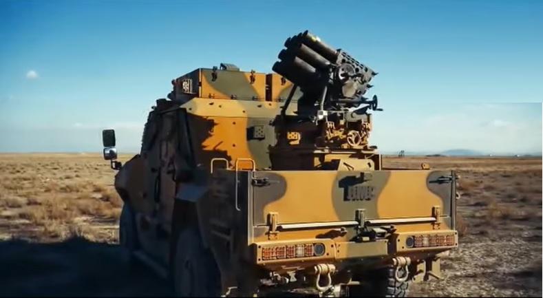 Turkish BMC Vuran MRAP Test-fires with Roketsan 107 mm Multiple Rocket Launcher System (MLRS)