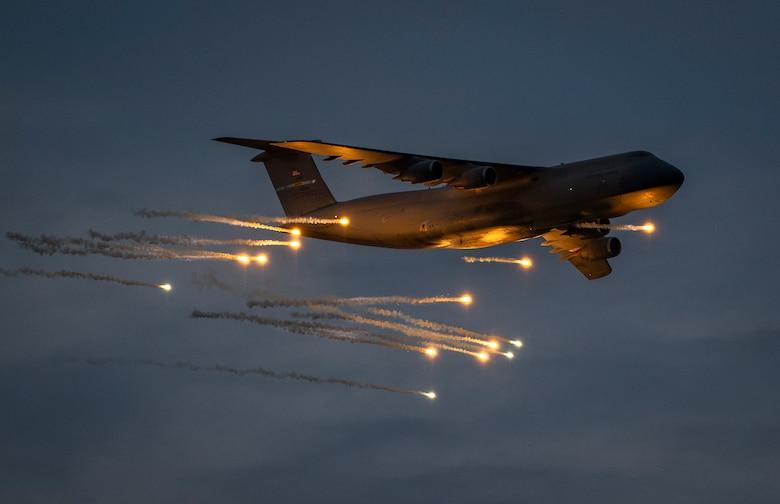 US Air Force C-5M Super Galaxy Visits Eglin Air Force Base for Countermeasures Testing