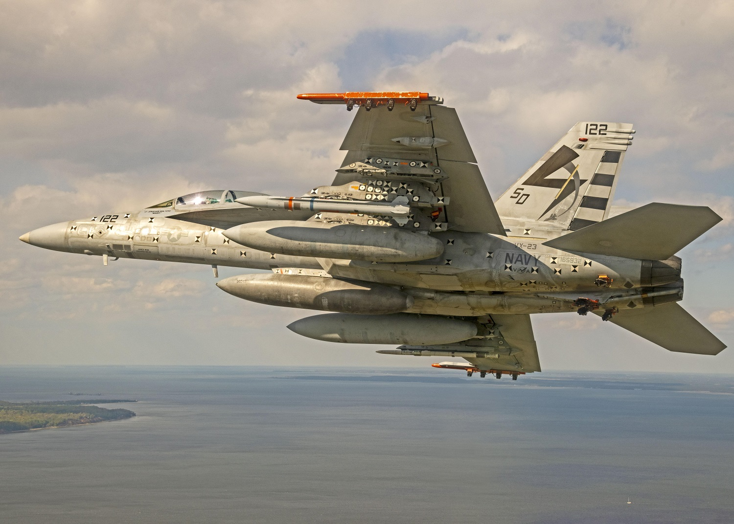US Navy Completes F/A-18 Flight with Advanced Anti-Radiation Guided Missile - Extended Range (AARGM-ER)