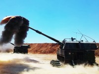 Turkish T-155 Fırtına Howitzer Strikes Precisely with ROKETSAN's Range Correction Kit
