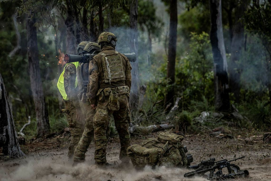 Australian Army Soldiers Conduct Combined Arms Live Fire Exercise in Exercise Diamond Walk 21