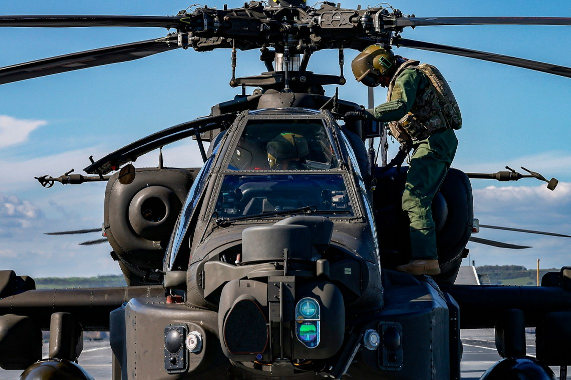 British Army Apache Attack Helicopters Add Striking Power to Royal Navy HMS Prince of Wales
