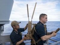 U.S. Navy Sailors Demonstrates Counter-UAS Technologies Aboard USS Shiloh