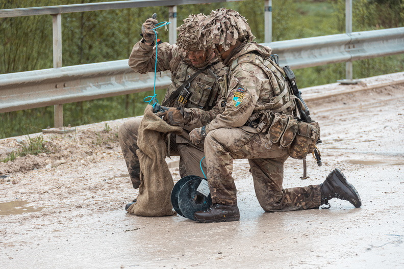 Estonia's Spring Storm Culminates Military Training Exercise with Tactical Live-fire Shooting Drills