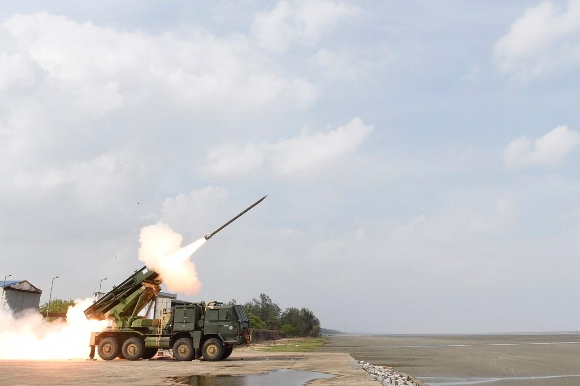 India Successfully Test Fires Enhanced Pinaka Multi-Barrel Rocket Launcher in Odisha