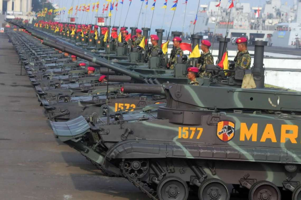 Indonesian Marine Corps Indonesian Marine Corps BMP-3F Infantry Fighting Vehicles