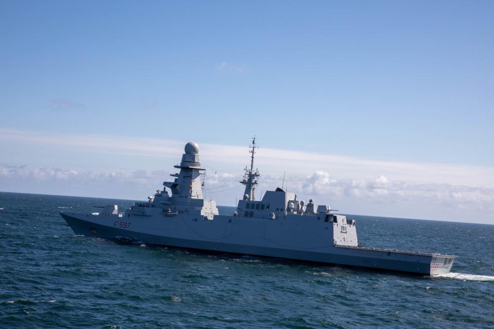 Italian Navy Carlo Bergamini-class Frigate ITS Antonio Marceglia (F 597)