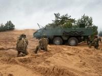 Latvian Armed Forces Test Patria 6×6 Armoured Wheeled Vehicle Platform