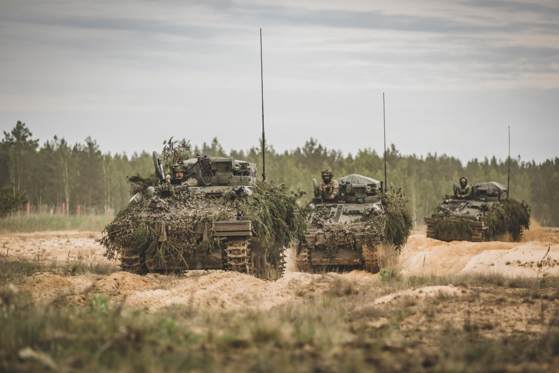 Latvian CVR(T) armoured reconnaissance vehicles during exercise Summer Shield 21