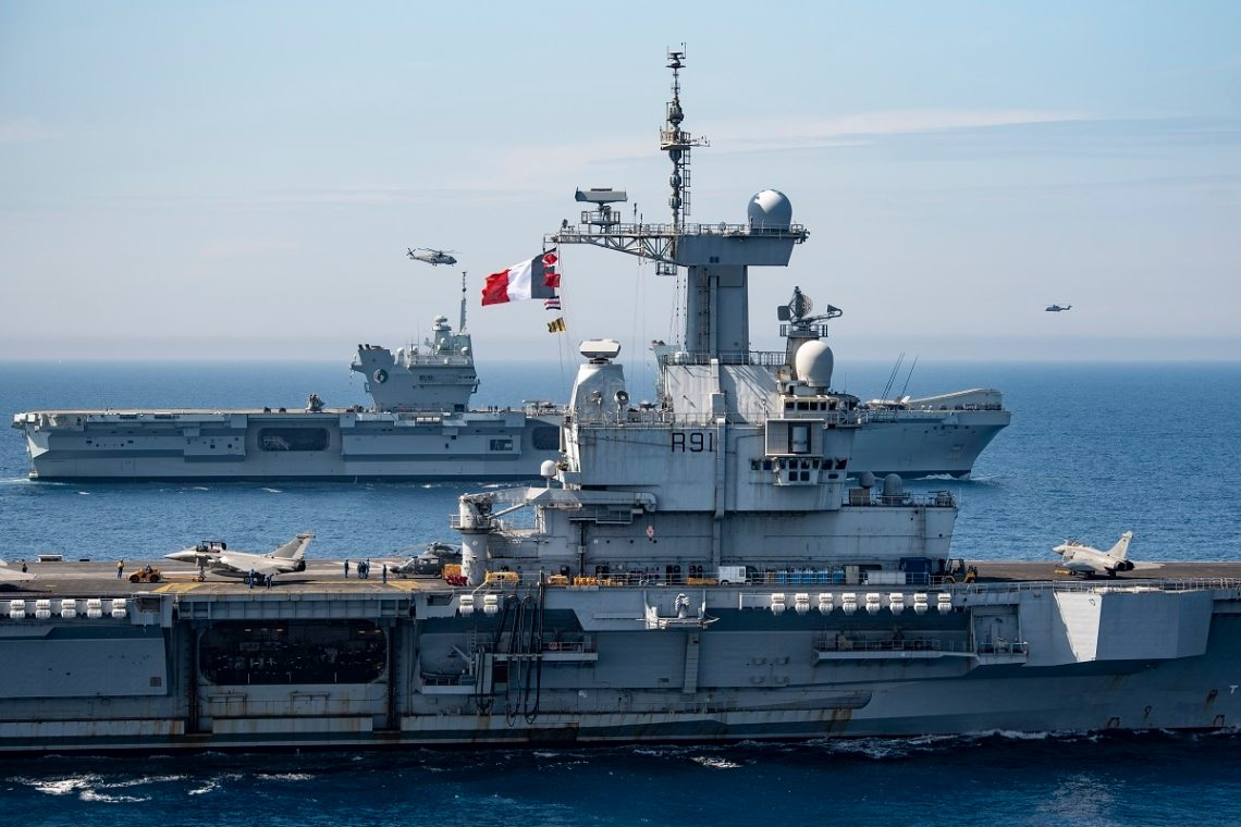NATO Carrier Strike Groups Train Together in the Mediterranean