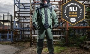 NP Aerospace Awarded NIJ Certification for New 4030 ELITE Bomb Suit