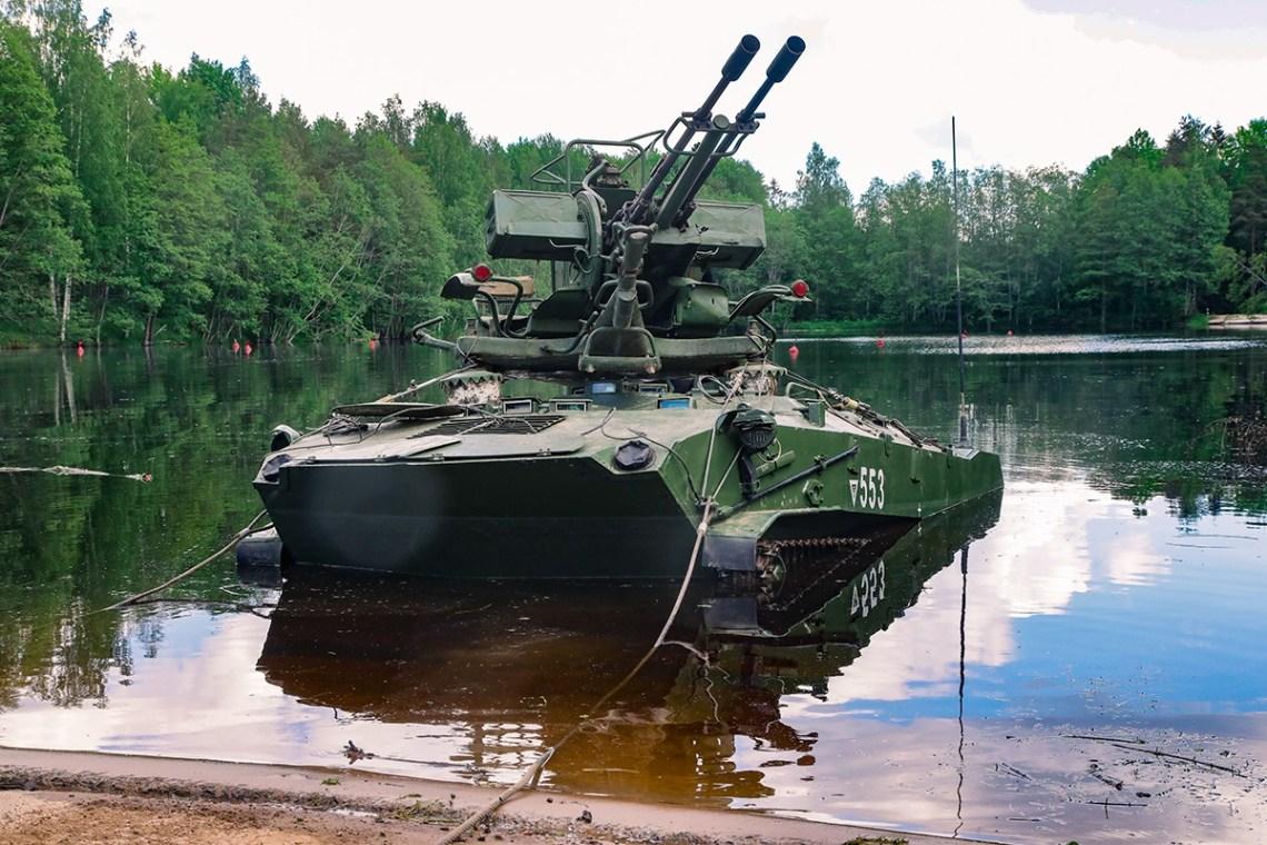 Russian 76th Guards Air Assault Division BTR-DG Self-Propelled Anti-aircraft Gun