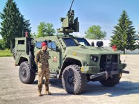 Slovenian Armed Forces unveils its Oshkosh Defense JLTVs equipped with RS CROWS Remote Weapon Station (RWS).