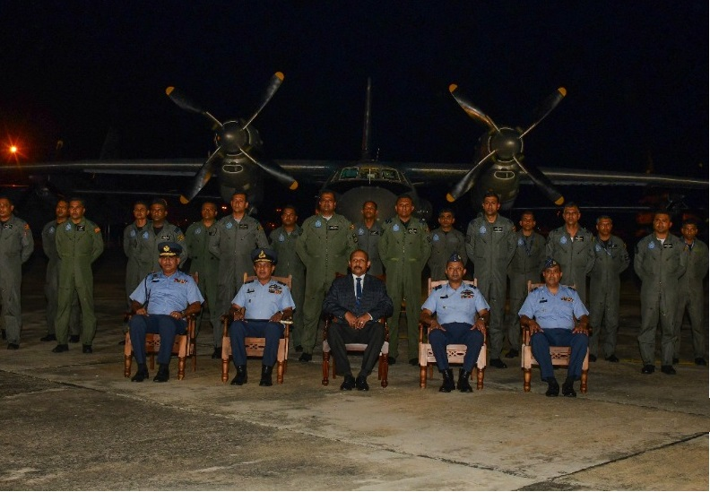 One of three SLAF AN-32B transport aircraft that returned to service with No 2 Squadron at SLAF Base Katunayake on 11 June, after being overhauled in Ukraine. (Sri Lanka Air Force)