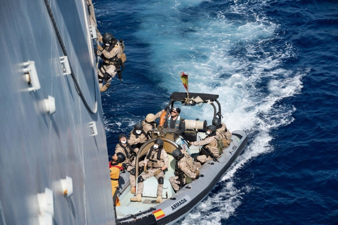 Two Standing NATO Maritime Group Train Together in Mediterranean