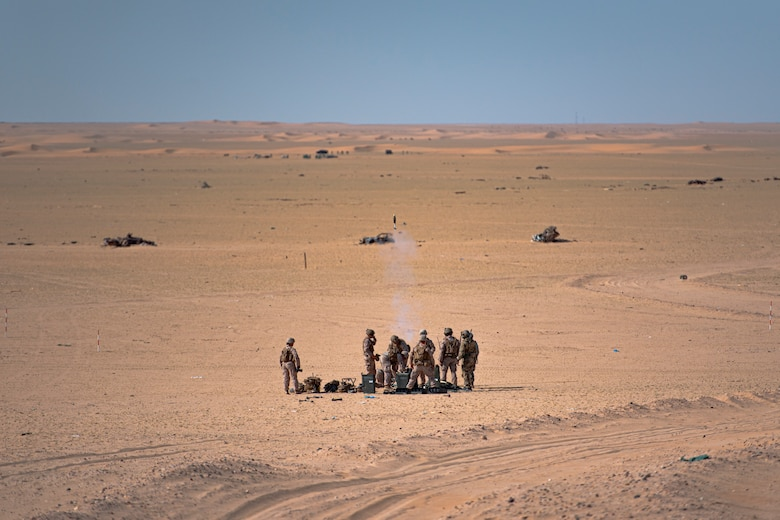 US Armed Forces JTACs Train with Italian Air Force Eurofighters at Udairi Range Complex, Kuwait