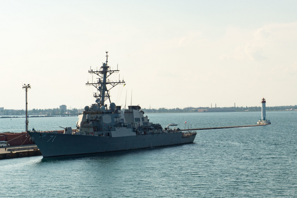 US Navy Arleigh Burke-class Guided-missile Destroyer USS Ross