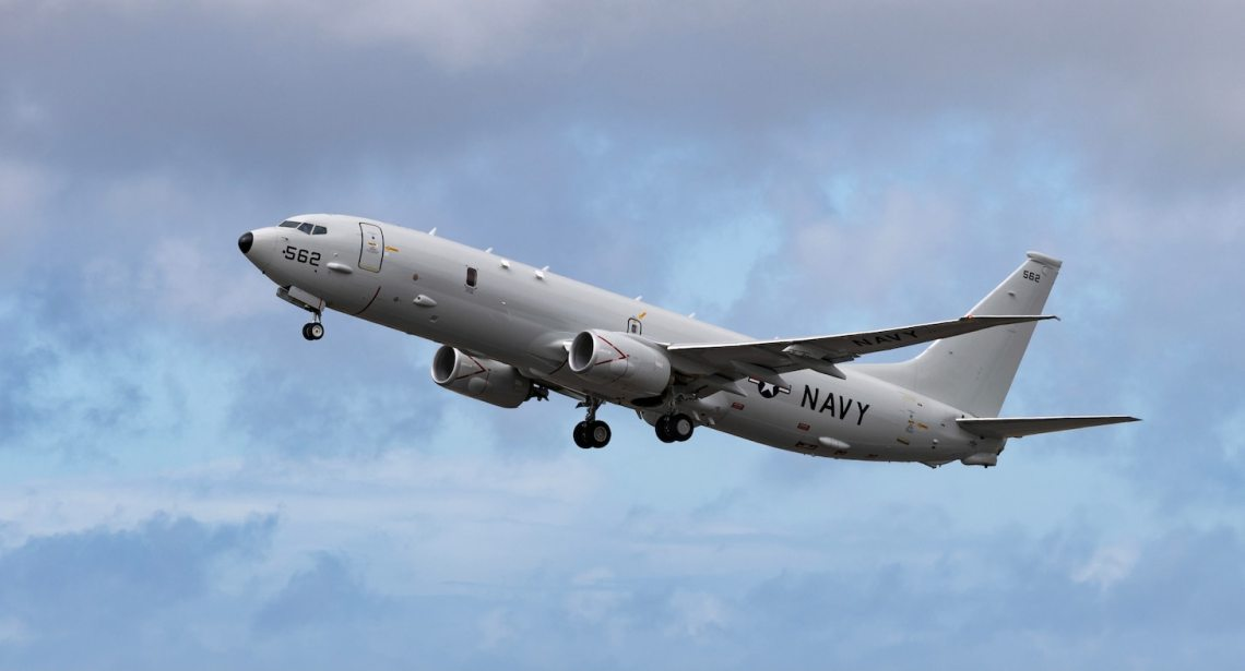 US Navy P-8A Poseidon Successfully Employs Harpoon Missile During Joint Missile Defense Exercise