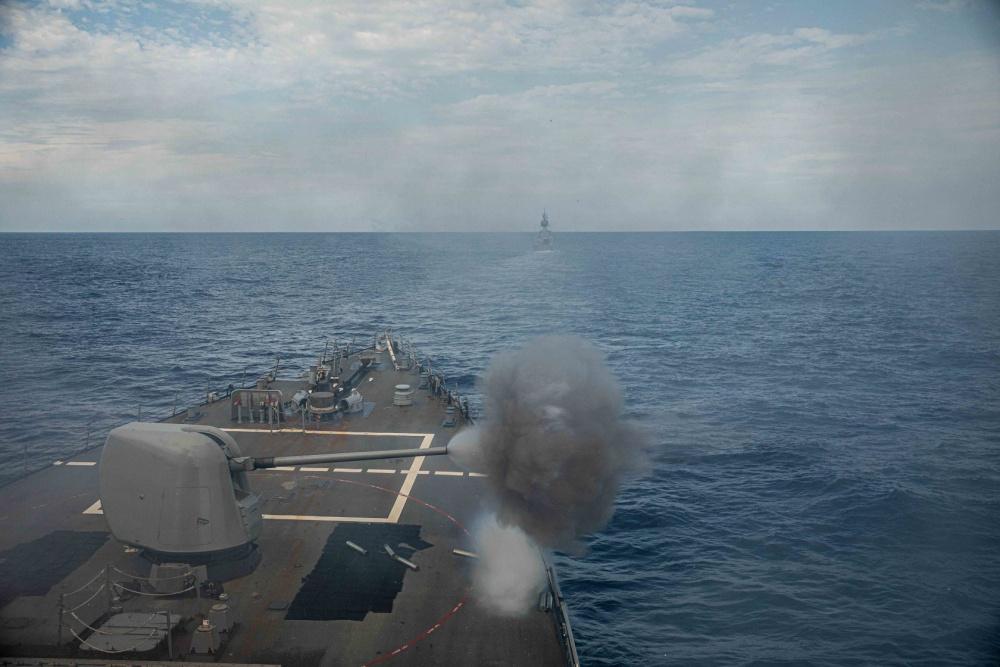 US Navy USS Curtis Wilbur Conducts Bilateral Operations with Royal Australian Navy HMAS Ballarat