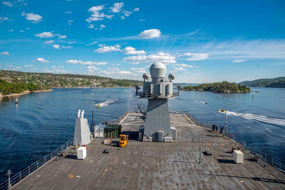 US Navy USS Mount Whitney (LCC 20) Visits Oslo, Norway