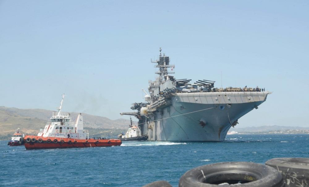 Wasp-class amphibious assault ship USS Iwo Jima (LHD 7)